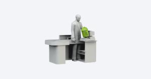 Как прикладывать карту к экрану терминалу для бесконтактной оплаты?